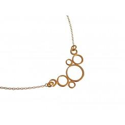 Damen Halskette Anhänger BUBBLES 925 Silber Vergoldet –- 45 cm