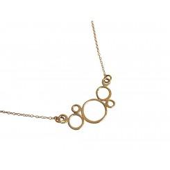 Damen Halskette Vergoldet BUBBLES 45 cm