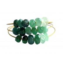 Damen Ring Vergoldet Smaragd Grün