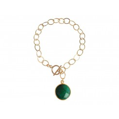 Damen Armband Vergoldet Smaragd Grün CANDY