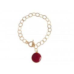 Damen Armband Vergoldet Rubin Rot CANDY